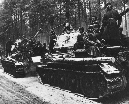 т-34 с десантом весна 44